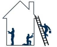Entrepreneurs à la maison de réparation Photo stock