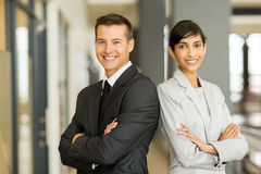 Entrepreneurs arms folded. Beautiful young entrepreneurs with arms folded Royalty Free Stock Images