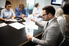 Entrepreneurs and business people conference in meeting room. Entrepreneurs and business people conference in modern meeting room stock images