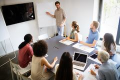 Entrepreneurs and business people conference in meeting room. Entrepreneurs and business people conference in modern meeting room royalty free stock photos