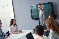 Entrepreneurs and business people conference in modern meeting r Royalty Free Stock Photography