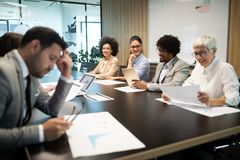 Entrepreneurs and business people conference in meeting room. Entrepreneurs and business people conference in modern meeting room stock photo
