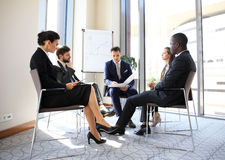 Entrepreneurs and business people conference in modern meeting room. Entrepreneurs and business people conference in modern meeting room royalty free stock images