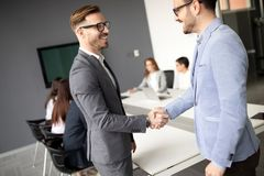 Entrepreneurs and business people conference in modern office. Entrepreneurs and young business people conference in modern office royalty free stock photography