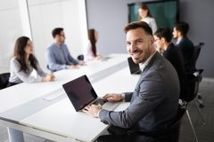 Entrepreneurs and business people conference in modern office. Entrepreneurs and young business people conference in modern office royalty free stock images