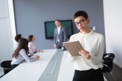Entrepreneurs and business people conference in modern meeting r. Entrepreneurs and business people conference in professional business office Royalty Free Stock Photography