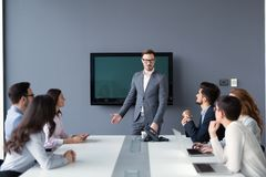 Entrepreneurs and business people conference in modern meeting r Royalty Free Stock Images