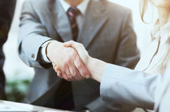 Entrepreneurs Conference. Concluding a very important deal securing a handshake Stock Photo