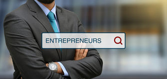 Entrepreneurs search bar illustrations with professional in background.  stock photos