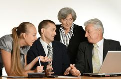 Entrepreneurs to discuss current issues Royalty Free Stock Photo