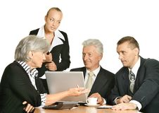 Entrepreneurs to discuss current issues Stock Photo