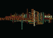 Entrepreneurship And The Business Environment Text Background  Word Cloud Concept Royalty Free Stock Image