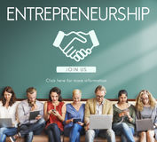Entrepreneurship Corporate Enterprise Dealer Concept Royalty Free Stock Photography