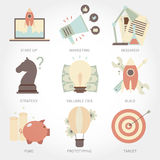 Entrepreneurship flat design icon set royalty free illustration
