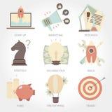 Entrepreneurship flat design icon set Stock Images