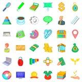 Entrepreneurship icons set, cartoon style. Entrepreneurship icons set. Cartoon set of 36 entrepreneurship vector icons for web isolated on white background Stock Images