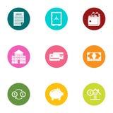 Entrepreneurship icons set, flat style. Entrepreneurship icons set. Flat set of 9 entrepreneurship vector icons for web isolated on white background Stock Photos