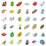 Entrepreneurship icons set, isometric style. Entrepreneurship icons set. Isometric set of 36 entrepreneurship vector icons for web isolated on white background Royalty Free Stock Image