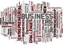 Entrepreneurship A Leap Of Faith Word Cloud Concept Stock Image