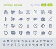Entreprise constituée en société | Icônes de granit Images stock