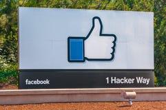 Entreprise de Facebook en Californie Images stock