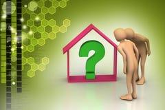 Entreprise immobilière avec le point d'interrogation Photos libres de droits