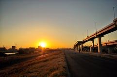 Entrer dans le coucher du soleil de Tokyo Photographie stock libre de droits