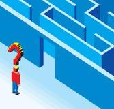 Entrer dans le labyrinthe 3D Photo libre de droits