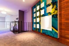 Entresol in modern flat. Horizontal view of entresol in modern flat Royalty Free Stock Photos
