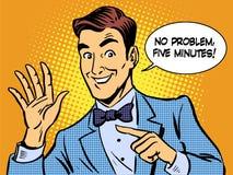 Entretenez l'homme d'affaires de cinq minutes illustration stock