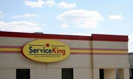 Entretenez le Roi Collision Center Image libre de droits