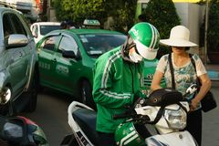 Entretenez le vélo de grippage en Sai Gon, Vietnam Photos libres de droits