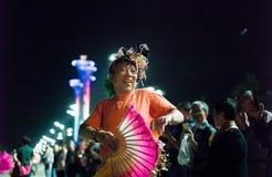 Entretenimento civil do Pequim na vila dos Olympics Imagem de Stock Royalty Free