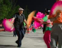 Entretenimento civil do Pequim na vila dos Olympics Fotografia de Stock
