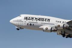 Entretenimento: 17 de abril Iron Maiden foto de stock
