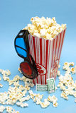 entretenimento do filme 3D Imagem de Stock