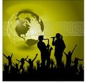Entretenimento global Backgroun Imagens de Stock Royalty Free