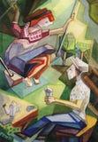 Entretenimentos em uma residência do verão ilustração royalty free