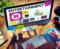Entretenimiento audio de Media Player que fluye concepto fotografía de archivo libre de regalías