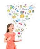 Entretenimiento con la tableta digital