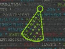 Entretenimiento, concepto: Sombrero del partido en fondo de la pared Foto de archivo libre de regalías