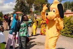 Entretenimiento de los payasos en Nairobi Kenia Fotografía de archivo