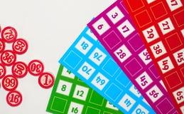 Entretenimiento del juego de juego de Tombala del bingo de la loteria Fotografía de archivo libre de regalías