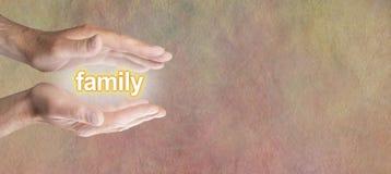 Entretenir votre bannière large de famille Images libres de droits