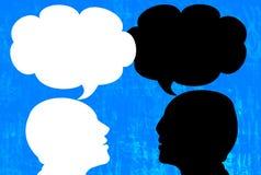 Entretien (conversation) illustration libre de droits