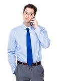 Entretien d'homme d'affaires au téléphone portable Photographie stock
