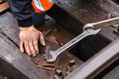 Entretien de chemin de fer photographie stock libre de droits