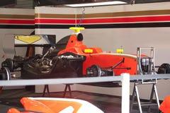 Entretien de la formule 1 de voiture de course Images libres de droits