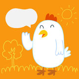 Entretien de poulet Image stock