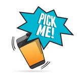 Entretien de téléphone Image libre de droits